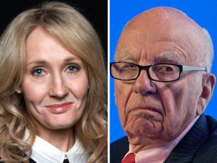 Image: J.K. Rowling, Rupert Murdoch