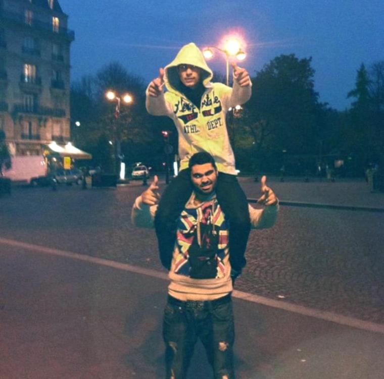 Image: Lyon Menahem and Yohan Cohen, top, one of victims in Paris supermarket