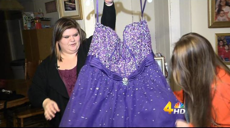 Image: Kristen Layne, 18, decided to sell her junior prom dress through Facebook. The girl wore the gown to junior prom at White House High School last year. She said she chose the dress because it made her feel like a princess.