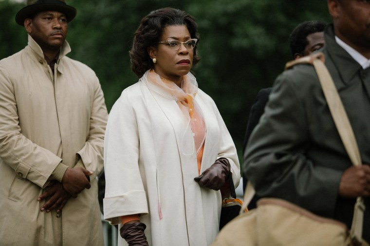 Lorraine Toussaint (center) plays Amelia Boynton in SELMA, from Paramount Pictures, Pathé, and Harpo Films. SEL-15709R