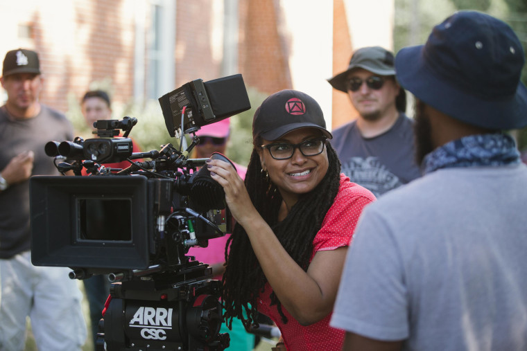 Director/Executive Producer Ava DuVernay, center, on the set of Selma.