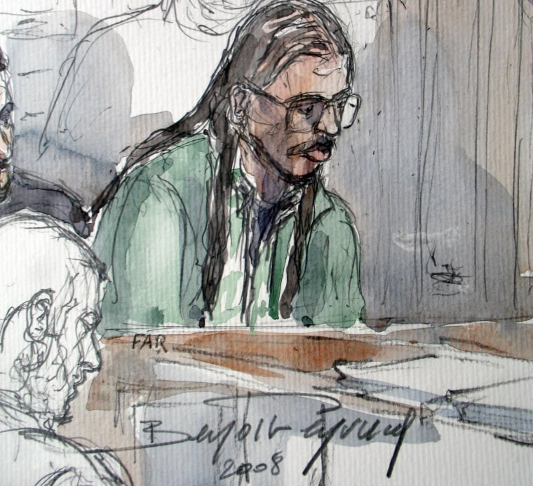 Image: Farid Benyettou in a 2008 court sketch