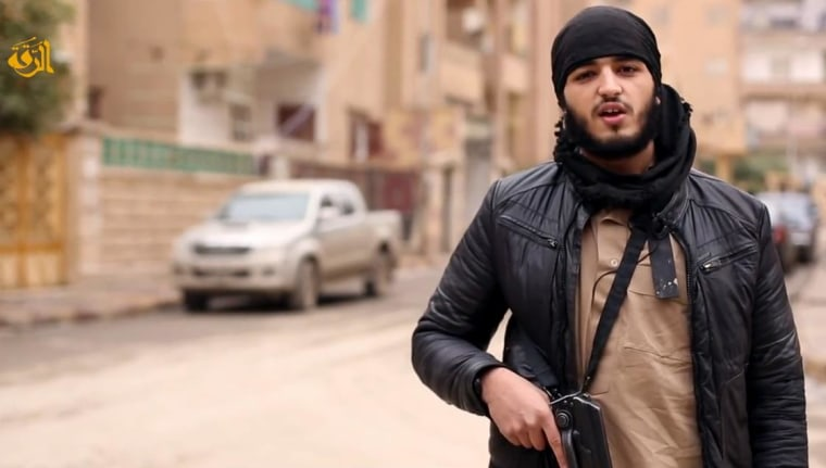 One of three French-speaking jihadists appeared in a ISIS released video