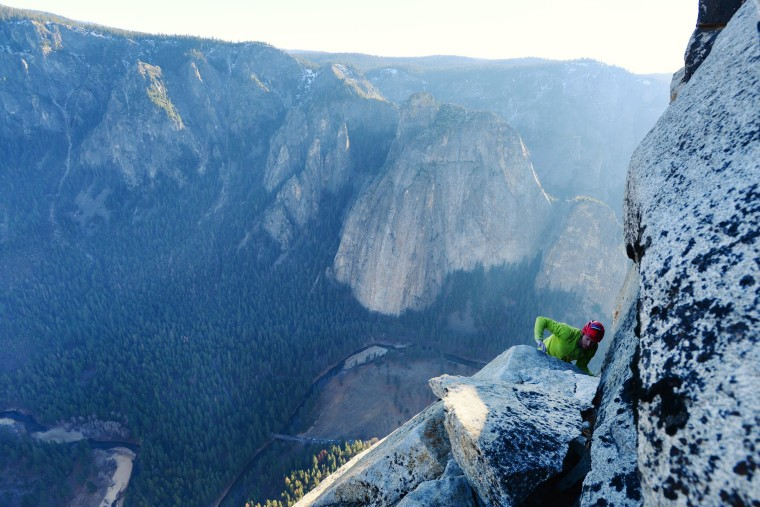Tommy Caldwell completes the historic Dawn Wall free climb.