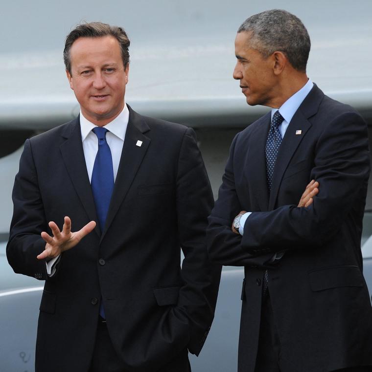 Cameron visits US