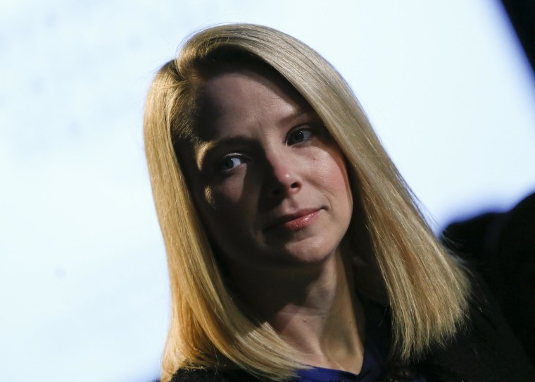 Yahoo Inc Chief Executive Marissa Mayer attends the annual meeting of the World Economic Forum (WEF) in Davos, in this January 25, 2013 file photo.