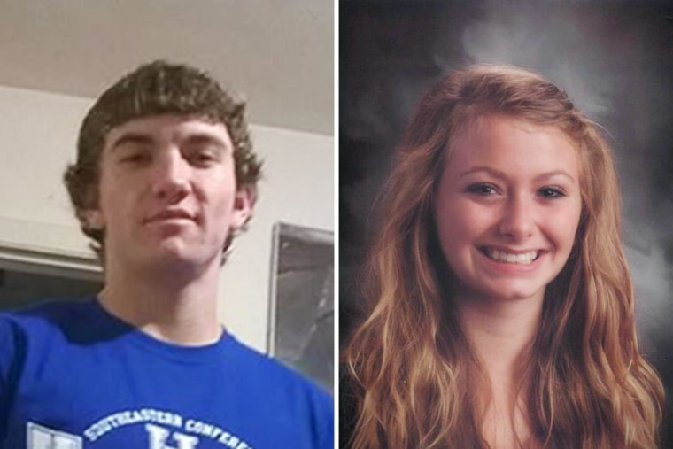 Image: Dalton Hayes, 18, and Cheyenne Phillips,13, in photos released by the Grayson County Sheriff's Office.