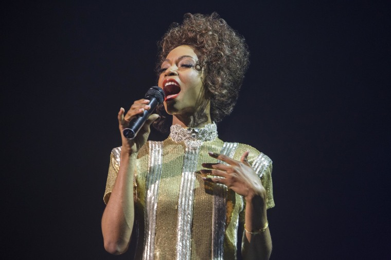 "Yaya DaCosta stars as ""Whitney Houston"" in the all-new Lifetime Original Movie, Whitney, premiering Saturday, January 17, 2015 at 8pm ET/PT on Lifetime."