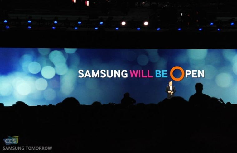 """Open"" was the word of the day at Samsung's CES press conference all about the Internet of Things, but behind the scenes there is fierce competition."