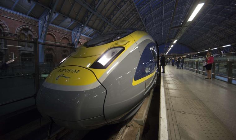 Image: BRITAIN-FRANCE-GERMANY-BELGIUM-TRANSPORT-RAIL