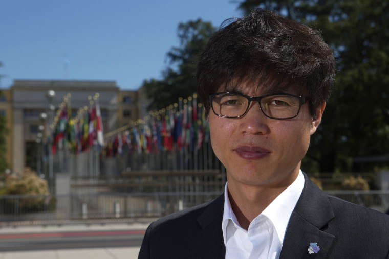 Image: File photo of North Korean defector Shin Dong-hyuk in Geneva