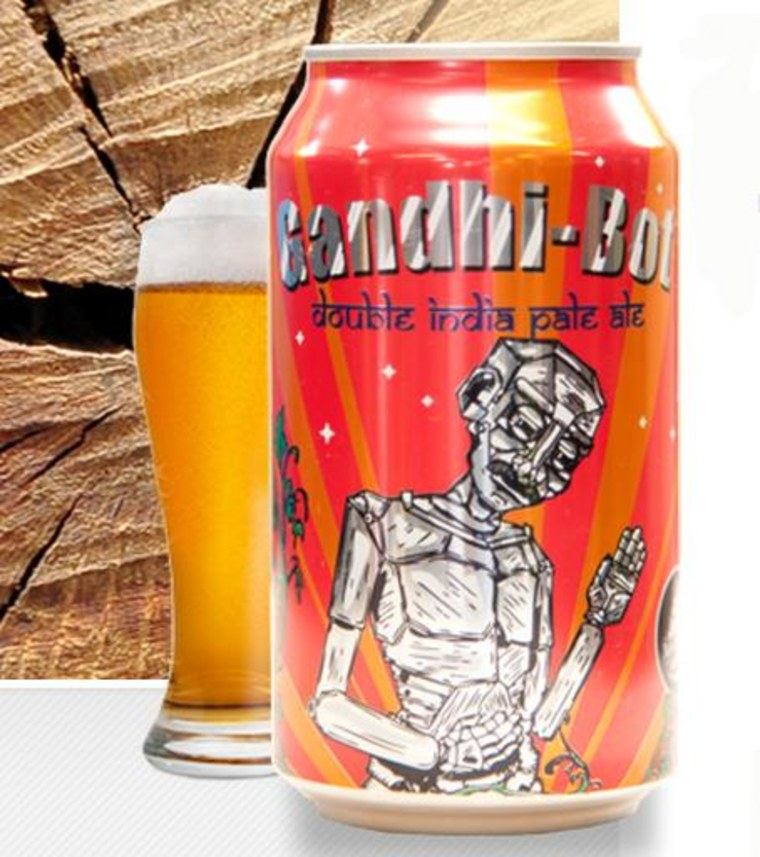 Image: Image: New England Brewing Gandhi-Bot beer bottle