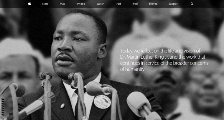 Image: Apple tribute to MLK
