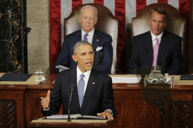 Image: President Barack Obama gives his State of the Union address
