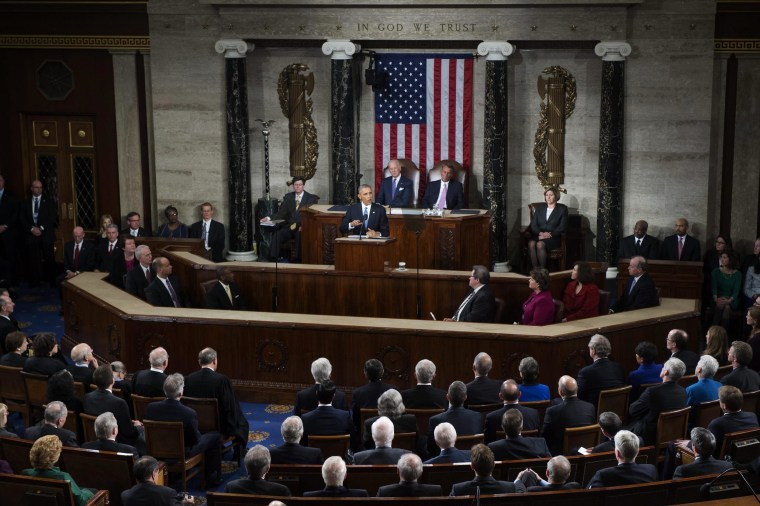 Image: US President Barack Obama delivers his 6th State of the Union address.