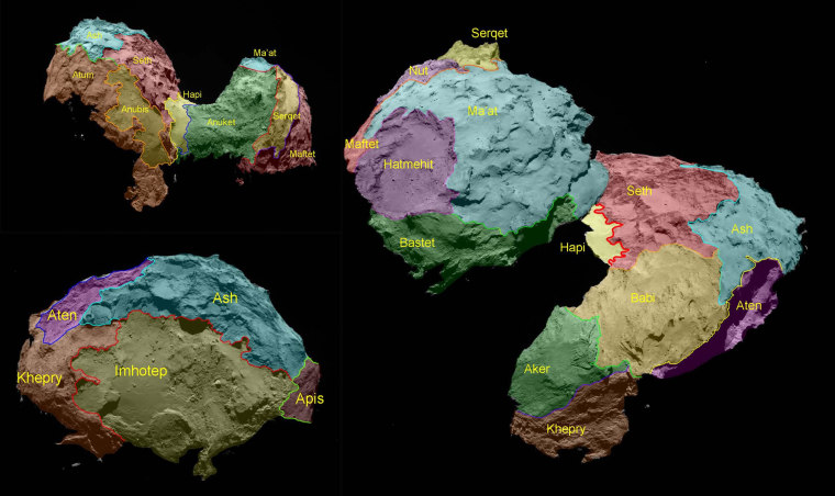 Image: Comet geography