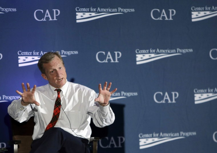 Image: Investor, philanthropist and environmentalist Tom Steyer speaks at the Center for American Progress' 2014 Making Progress Policy Conference in Washington