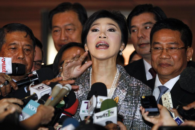 Image: Ousted former Prime Minister Yingluck Shinawatra