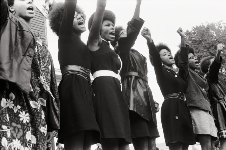 Black Panthers from Sacramento, Free Huey Rally, Bobby Hutton Memorial Park in Oakland, CA, USA, 1969