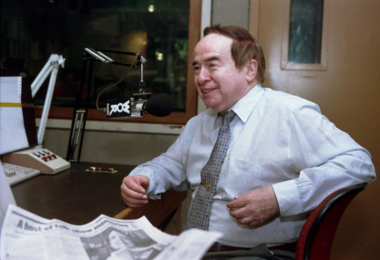 "Image: file photo shows Joe Franklin speaking as a guest on the ""John Gambling Radio Show"". Franklin died Saturday Jan. 24, 2015 of cancer, which he had had for a few years, longtime producer and friend Steven Garrin said. He was 88."
