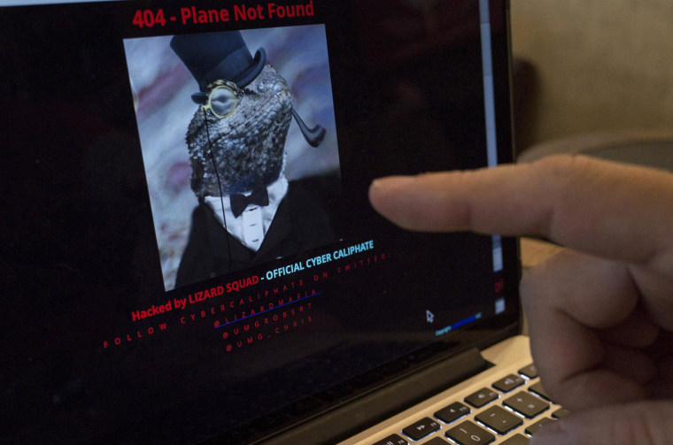 Image: Malaysia Airlines' hacked website