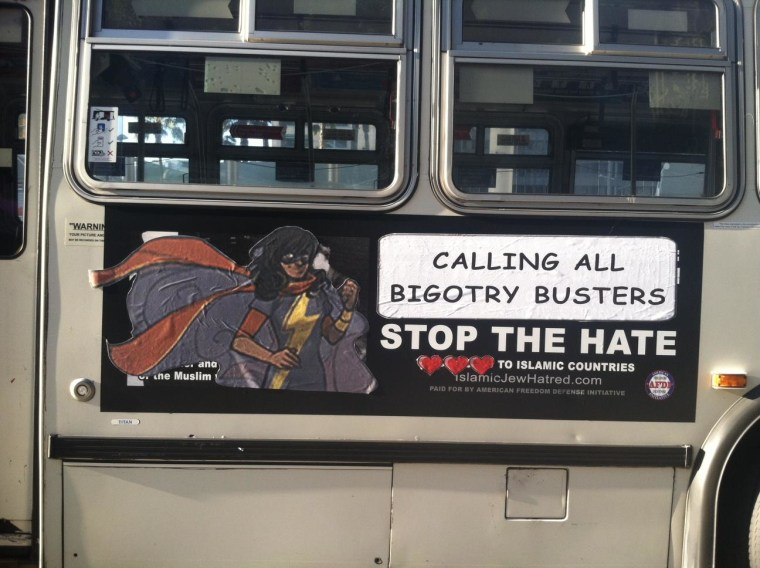 Comic Heroine Ms Marvel Saves San Francisco From Anti Islam Ads