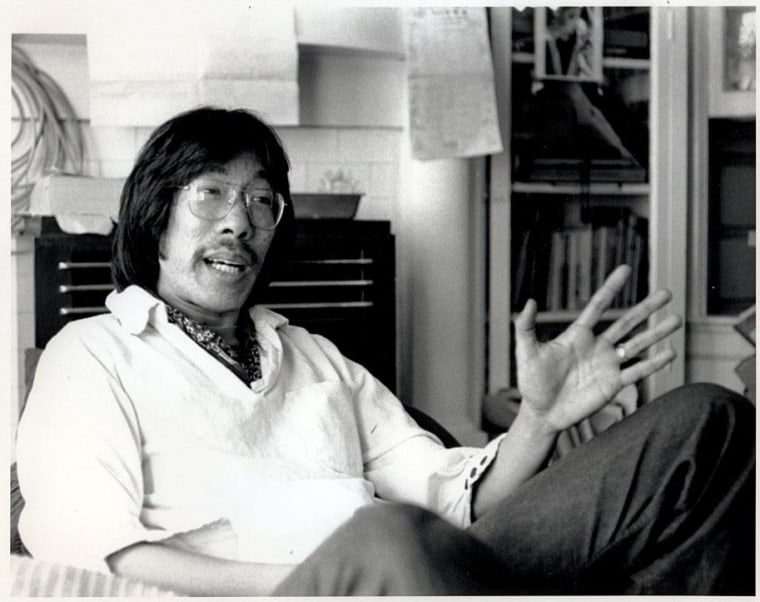 Award-winning playwright, novelist, and cultural critic, Frank Chin. His works include The Chickencoop Chinaman, The Year of the Dragon, Donald Duk, Gunga Din Highway, and Bulletproof Buddhists.