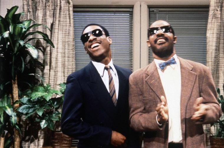 Image: Eddie Murphy and Stevie Wonder appear on Saturday Night Live in 1981