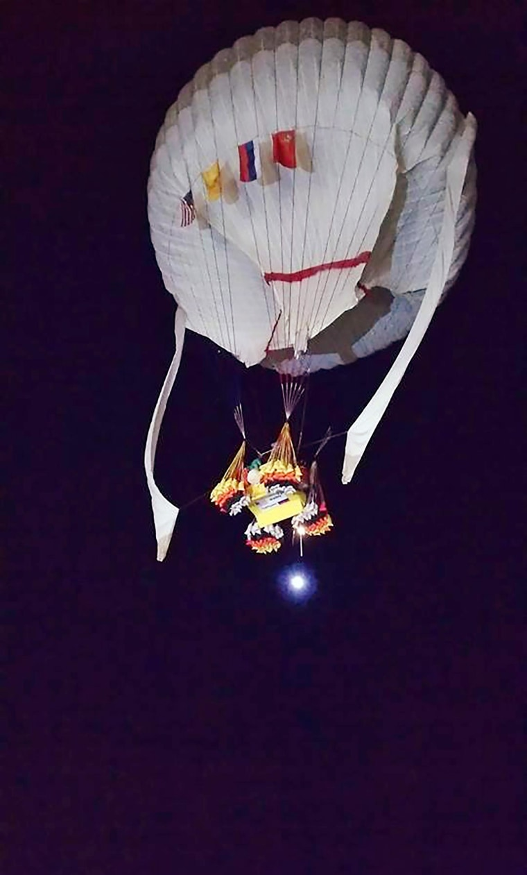 Troy Bradley of New Mexico and Leonid Tiukhtyaev of Russia set off from Saga, Japan, shortly before 6:30 a.m. JST Sunday, Jan. 25, 2015, in their quest to pilot their helium-filled balloon from Japan  to North America and break two major records en route.