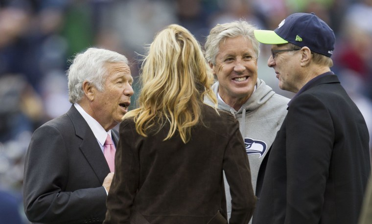 NFL FOOTBALL, NEW ENGLAND PATRIOTS AT SEATTLE SEAHAWKS.