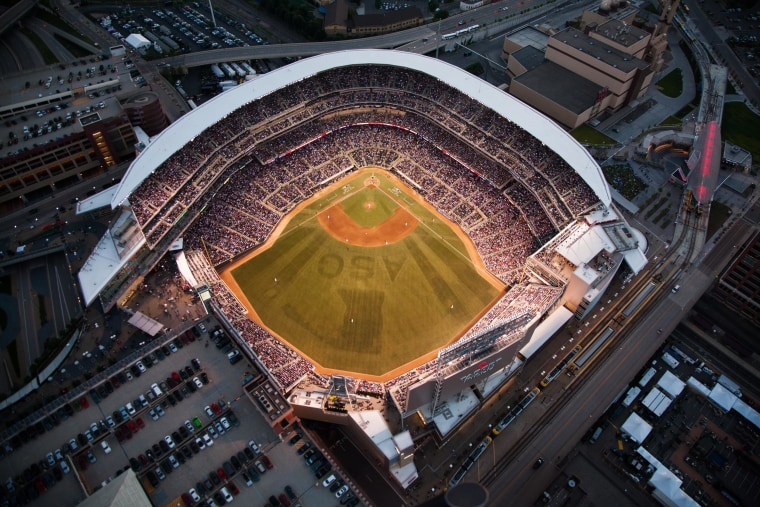 Image: An aerial view of the 85th MLB All-Star Game