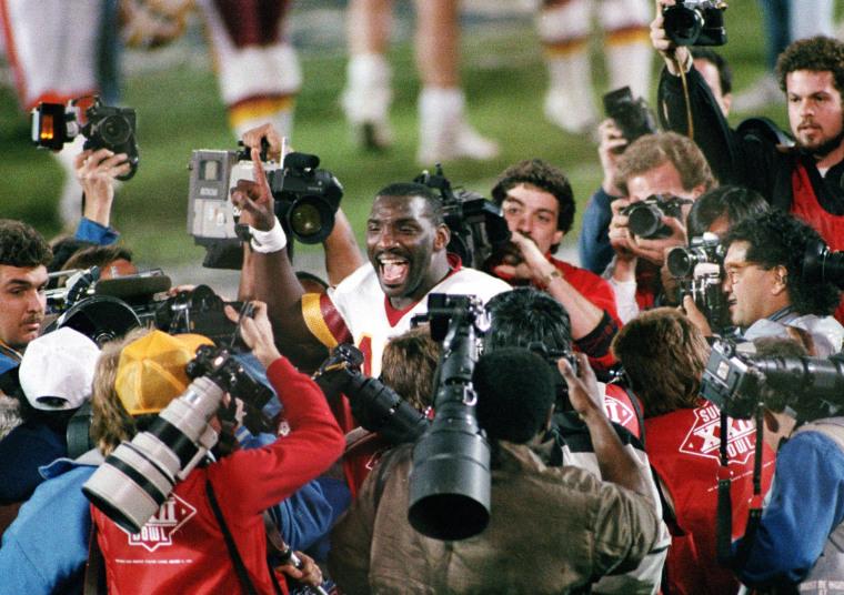 Image: Washington Redskins quarterback Doug Williams