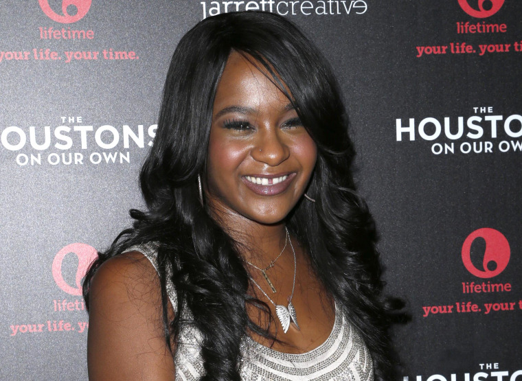"Bobbi Kristina Brown at the premiere party for ""The Houstons: On Our Own"" at the Tribeca Grand Hotel in New York