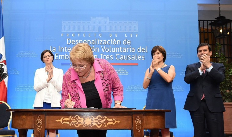 Image: Chilean President Michelle Bachelet