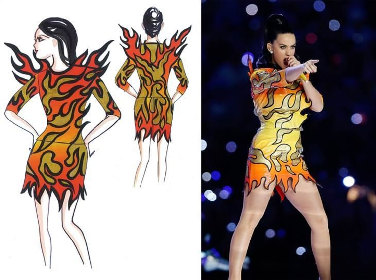 See the inspirations for all of Katy Perry's Super Bowl costumes
