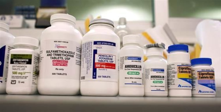 Bottles of antibiotics