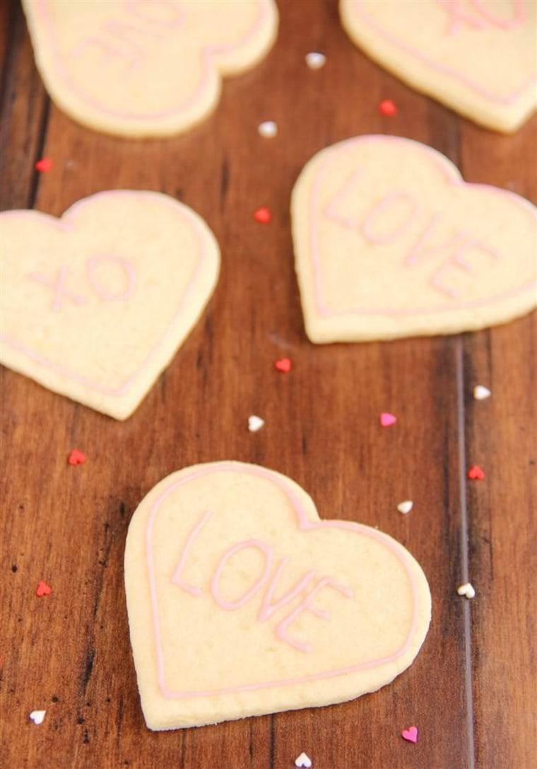 Skinny Heart-Shaped Sugar Cookies