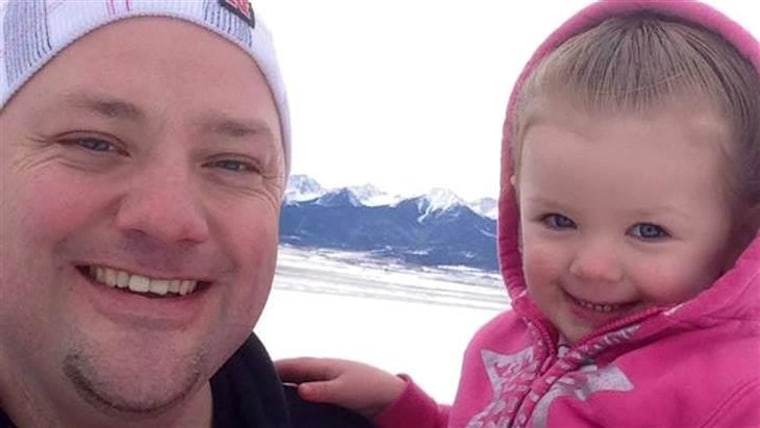 Greg Wickherst and his 2-year-old daughter, Izzy.