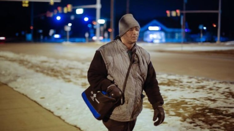 Image: Donations pour in for Detroit man who commutes 21 miles a day on foot