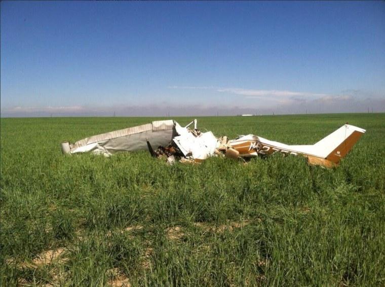 Image: selfie plane crash