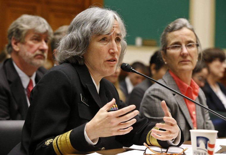 Image: Schuchat, Director of the National Center for Immunization and Respiratory Diseases at the Centers for Disease Control and Prevention testifies in Washington