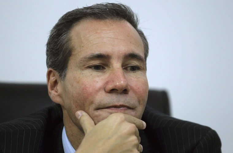Image: Argentine prosecutor Alberto Nisman attends a meeting with journalists in Buenos Aires