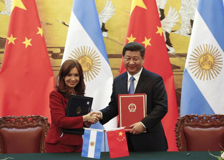 Image: Cristina Fernandez, Xi Jinping