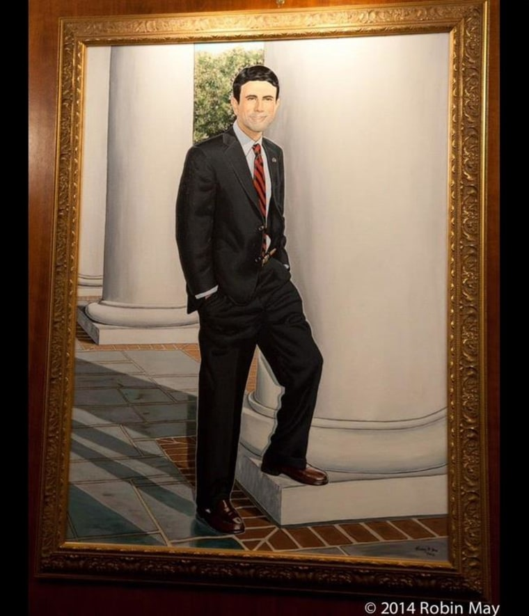 An unofficial portrait of Louisiana Governor Bobby Jindal, done by a constituent, sparked a Twitter firestorm this week over politics, race, and artistic liberties.