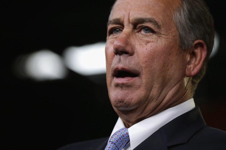 Image: John Boehner Holds Weekly Press Briefing At Capitol
