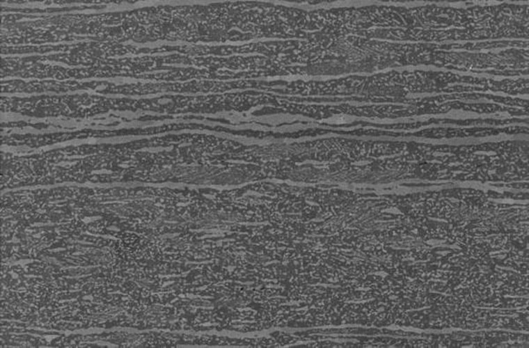 An electron microscope image of the new alloy's structure.