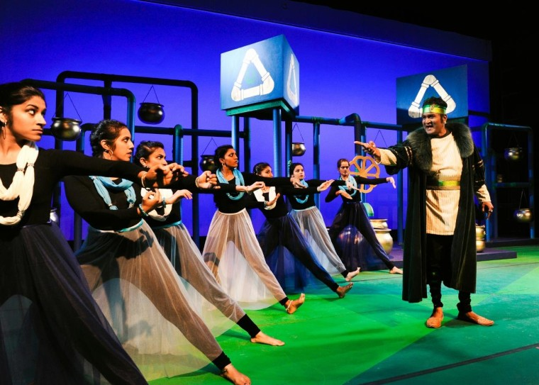 Rajiv Nema, 45, on stage in Amavasya last year. The musical explored the issues of skin color.