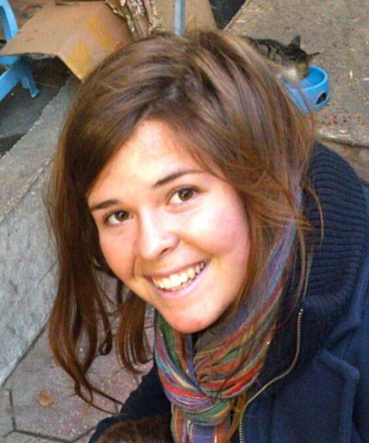 Kayla Mueller in an undated family photo.