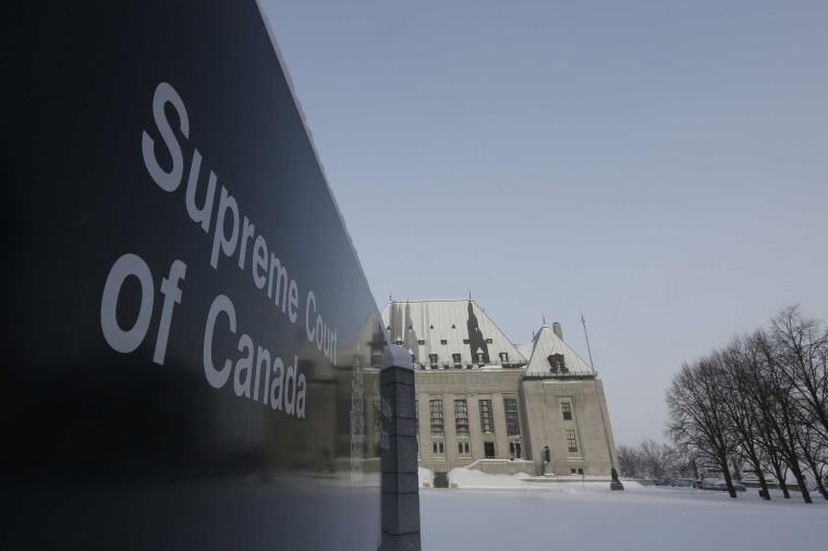 Image: A view shows the Supreme Court of Canada in Ottawa