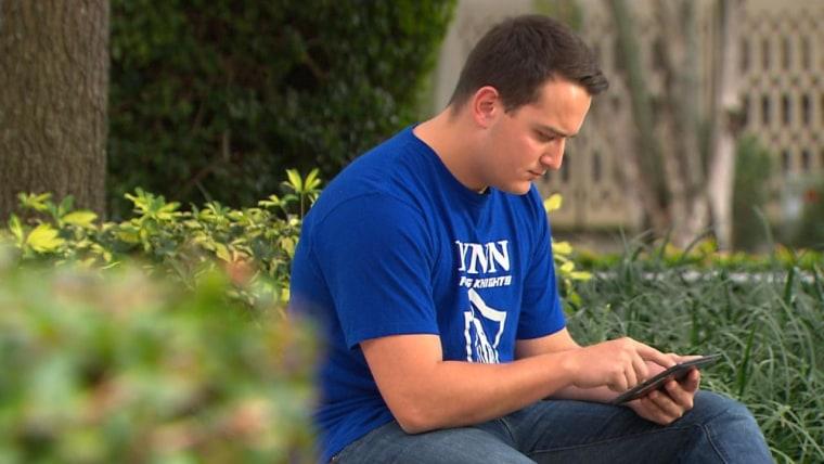 Image: Michael Van Castren, a student at Lynn University